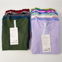 LANXU BAND ETİKET SWIFTLY TECH Bayan Spor Kısa Kollu T-Shirt Nem Emilimi ve Ter Fishing Yüksek Elastik Yoga Takım Elbise