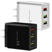 QC3.0 3 USB 18W FAST CHARGEMENT RAPIDE ADAPTATEUR DE CHARGEUR MURAL EU US US SUR SAMSUNG S8 S9 S10 HTC