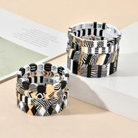 Charm Bracelets Boho Power Handmade Bracelet Men Black For Women Jewelry Pulseras Mujer Moda Armband Enamel Tile Beads Jewellry