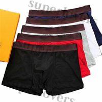 Fashion Brand Underpants Luxury Men Cotton Boxers Designer Breathable Mens Underwear Comfortable Boxer Shorts Male 5 Colors Panties