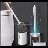 Fırçalar TPR Şile Temizleme Zemin Kavşağı Wallmounted Baz Fırça Tuvalet Için WC Banyo Aksesuarları Seti Ev Aracı 201214 Atjw Zkn9n