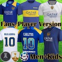 2021 المعلقة بوكا جونيورز لاعب ثالث نسخة مشجعي كرة القدم الفانيلة JRS 115th Anniversary 21 22 Camiseta Carlitos Maradona Football Shirt Kits Kids Equipment