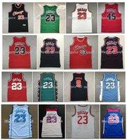 """Najwyższa jakość ! Karolina Północna Chicago College 23 Michael Bulls """"Jersey USA Vintage Koszykówka College 96 All Star Retro Red Black White Basketball Sportswear Jersey"""