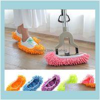 Buffers Piezas Suministros Organización de limpieza GardenLazy Shoes Zapatos Mop Piso Microfibra Microfibra Slipper Hogar Paño Limpio Zapato ER Mophead Overs