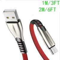 100pcs Qualité OEM originale de la qualité 1M 3FT 2M 6A 6A USB Câbles de synchronisation de la synchronisation de données de téléphone avec le paquet de vente au détail