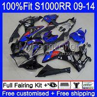 Injection Mold Fairings For BMW S 1000RR S1000-RR S1000RR Blue black hot 09 10 11 12 13 14 Bodywork 1No.18 S 1000 RR S1000 RR 2009 2010 2011 2012 2013 2014 OEM Bodys kit
