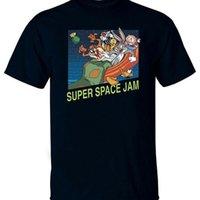 Cartoon Space Jam v2 jeu Poster de cinéma Comic 1996 T-shirt
