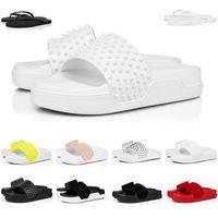 Zapatillas de verano, diapositivas de moda, triple negro, blanco, rojo, rosa, para hombre, mujer, chanclas planas, sandalias de plataforma para hotel de playa