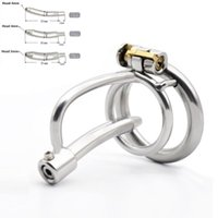 Cockrings 2021 316 Stainless Steel Male Chastity Device Cock Cage With Metal Catheter (8-10-12mm) BDSM Sex Toys Belt For Men