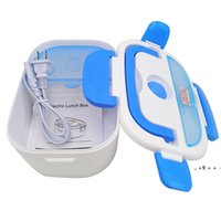 New Multifunctional Portable Electric Heating One-piece Separated Lunch Box Food Container Warmer For office workers students EWA8559