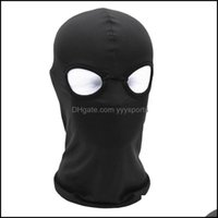 Caps Masks Protective Gear Sports & Outdoors2 Hole Fl Balaclava Hat Motorcycle Bike Hunting Cycling Cap Ski Military Tactical Sport Bicycle