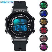 Mode Männer Frauen Uhren Multifunktions Leuchtende transparente digitale Sportuhr Liebhaber Geschenkuhr Kinder Kinder Handgelenk Armbanduhren