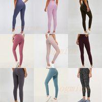 lu vfu Fitness Athletic Solid Yoga Pants leggings yogaworld womens girls drying yoga Outfits Ladies Sports women pants workout fitness K1U2#