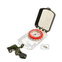 Outdoor Gadgets Multifunctional Compass With Ruler Compact Handheld Survival Military Camping Hiking Lanyard Mirror