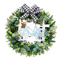 Simulation Easter Wreath Decoration Window Home Accessories Door Decor Artificial Flowers For Wedding Decorative & Wreaths