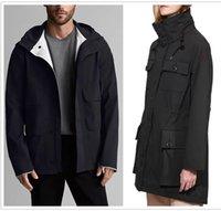 Outdoor leisure sports Men's Women's Trench Coats windproof windbreaker raincoat waterproof parker long leather collar hat warm fashion classic adventure jacket