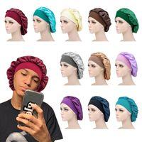 Women Satin Sleep Night Cap Head Cover Bonnet Wash Hat African Hair Care Turban Headcover Beanie Bandana Beanies