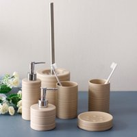 Ceramic Bathroom Accessories 5pcs Washroom Set Soap Dispenser Toothbrush Holder Tumbler Soap Dish Wedding Gifts 122609 Bath Accessory