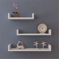 De parede simples decoração decorativo decorativo quadro de prateleira moldando estrutura de armazenamento de madeira cozinha quarto quarto sala de estar montado partição branco preto