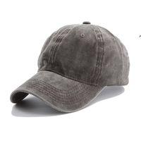 15styles Solid plain Baseball cap ladies washed cotton outdoor men women sunhat hat cap snapback party favor OWA6042
