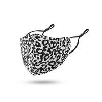 Prova de poeira e à prova de neblina respirável e à prova de poeira Máscaras de algodão leopardo Máscaras reutilizáveis Atacado adulto fivela de orelha ajustável