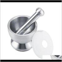 Mills de aço inoxidável argamassa pilão ping ping pote alho phary ervas moinho moinho moinho ferramenta de cozinha triturador de especiarias qwl1 mczy7
