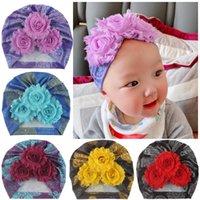 Новорожденные детские хлопчатобумажные шапки Cap милые летние печать цветы тюрбаны шляпы сладкие мягкие эластичные шапки для малышей девочек шапочки шапочки шапочки