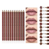 Lip Pencils 12 PC SET Colour Lipliner Pencil Gloss Pen Set Waterproof Cosmetic Makeup Lomg Lasting Beauty Women TSLM1