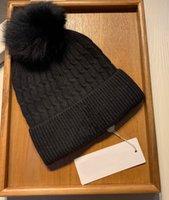 Wool Beanie Pom Pom Hat Cuffed Winter Warm Knitted Bobble Hat Beanie Skull Caps Plain Sport Ski Cap Women Men