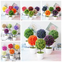 39Styles Artificial Grass Ball Flower Bonsai Home Garden Living Room Decor Wedding Birthday Party Christmas Ornament Fake Plants Decorative