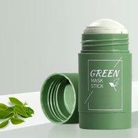 10ピース緑茶クレンジングソリッドマスク深清潔な美しさの肌グリーンスズ保湿水和フェイスケアフェイシャルマスクピールT427