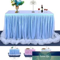 183 x77 cm Wedding Party Tutu Tulle Table Skirt Cover Tableware Cloth Baby Shower Party Home Decor Table Skirting Birthday Party Factory price expert design Quality