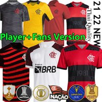 21/22 Flamengo Soccer Jerseys Diego E.Ribeiro Gabriel B. Gabi Football Jersey 2021 2022 البرازيل Supercopa النهائي Pedro de Arscaeta B.Henrique بولو الرجال النساء عدة كيت