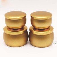المعطرة شمعة الجرار الذهب الفضة فارغة جولة الصفيح يمكن diy اليدوية الشاي الغذاء الحلوى الجدول الملحقات تخزين مربع مع غطاء DWA5145