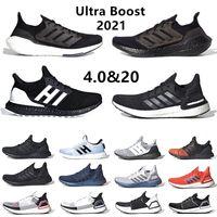 Ultra boost 2021 erkek koşu ayakkabıları Solar Yellow tech indigo ultraboost 4.0 core üçlü siyah beyaz Gri erkekler kadınlar eğitmenler spor ayakkabı