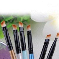 Storage Bottles & Jars Lip Brush Wood Handle Oblique Head Lipstick Cleaner Cleaning Eyelash Make Up Applicator