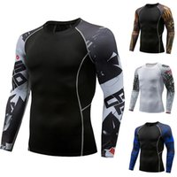 Men's T-Shirts Long Sleeve Compression Shirt Men Quick Dry Gym T Fitness Sport Male Rashgard Workout Traning Tights For
