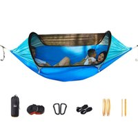 Tents And Shelters Tear-Resistant Nylon Parachute Double Hammock With Detachable Bug Net Rain Card Three Modes Of Use