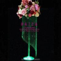 Festa Decoração Plinth Pilar Acrílico Flor Stands Wedding Display Table Centerpiece Stand para Event Decor Center Peça