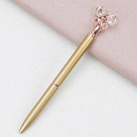 Gel Pens Fashion Ballpoint Bullet Type 1.0 Diamond Butterfly Pen Office Stationery Creative Advertising Promotion Metal 2EAG