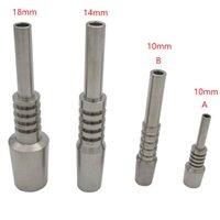 티타늄 네일 팁 넥타 컬렉터 돔이없는 흡연 액세서리 10mm 14mm 18mm GR2 NC 교체 키트에 대 한 2 TI 손톱 DAB 조작 VS 유리 봉수 파이프