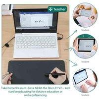 XP-Pen 데코 01 V2 10 '그래픽 태블릿 웹 회의 방송 거리 학습 교육 온라인 회의