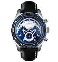 Mode SKMEIs Time 9189 Große Zifferblatt Leuchtstopp Timing Business Men's Quarzuhr