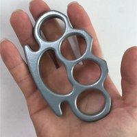 Putas de engranajes protectores Knuckle Dusters Metal Aleación de latón nudillos Autodefensa herramienta Personal Hierro Fistos de hierro Boxeo Guantes