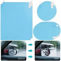 Coche Sombrilla 6pcs / set lateral retrovisor espejo ventana antivuelco Films impermeable impermeable resplandor protector automóvil adhesivo accesorio