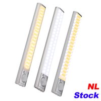 NL Stock 160 LED Treppen Nachtlicht Wireless Pir Motion Sensing Schrank Unter Schrankbeleuchtung USB Wiederaufladbare Batterie