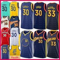 Stephen 30 Curry James 33 Wiseman Jersey Basketball Jersey Jeunes Kids Golden Klay 11 Thompson StateGuerriersJersey