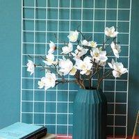 Heads Magnolia искусственный шелковый филиал Home El таблица украшения поддельных цветов свадьба невеста Холдинг Pogrape реквизит декоративные цветы венки