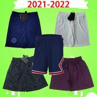 2020 2021 2022 PSG 축구 반바지 20 21 22 NEYMAR JR 세 번째 화이트 홈 블루 어웨이 오렌지 파리 축구 바지 maillots de foot MBAPPE CAVANI
