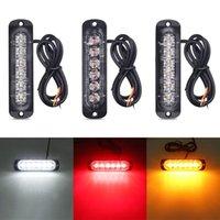 비상 조명 6 LED 트럭 경고 빛 신호 자동차 SUV 차량 오토바이 스트로보 12-24V 범용 울트라 얇은 타코마